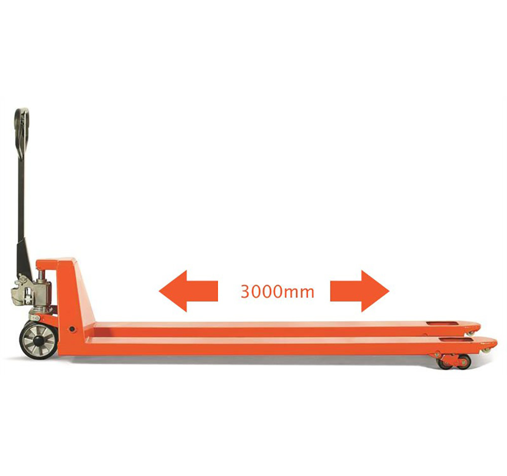 3000mm x 685mm 2000kg Extra Long Fork Hand Pallet Truck