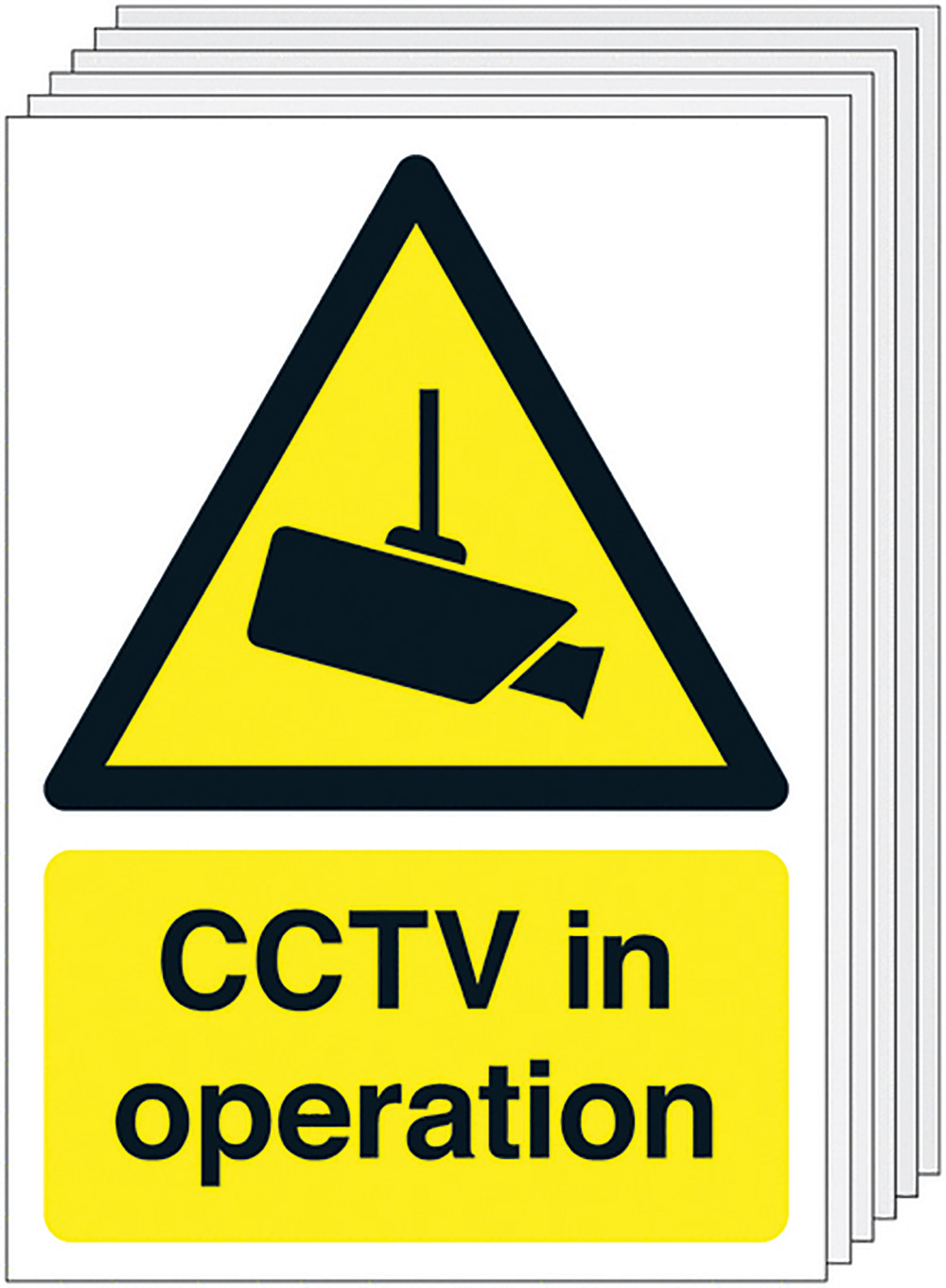 CCTV in Operation  420x297mm 1.2mm Rigid Plastic Safety Sign Pack of 6