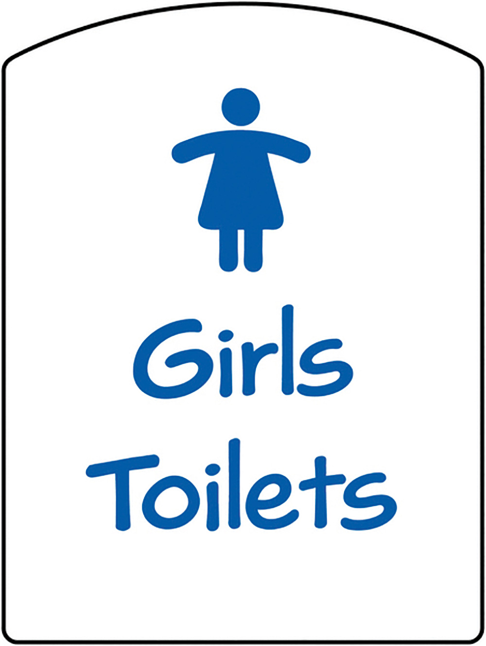 Girls Toilets School Sign 400x300mm 1.2mm Rigid Plastic Safety Sign