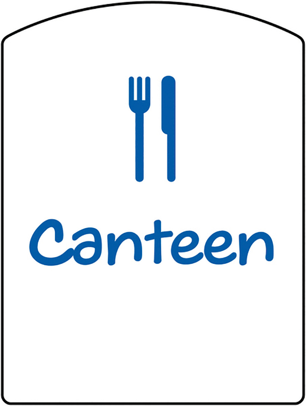 Canteen School Sign 400x300mm 1.2mm Rigid Plastic Safety Sign