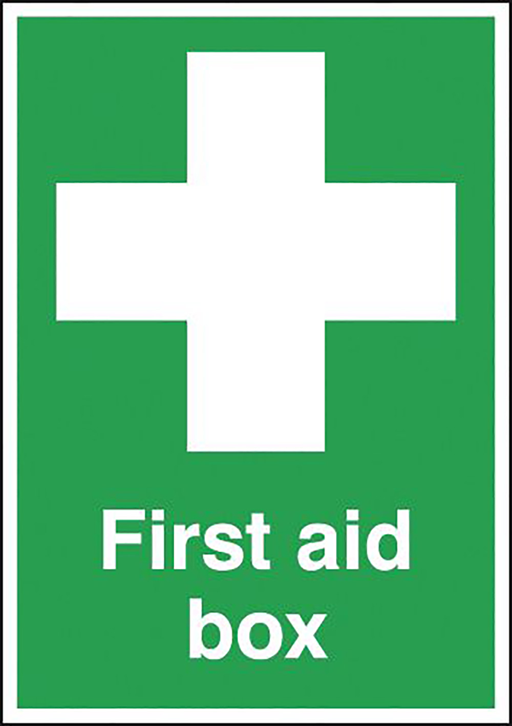 First Aid Box  70x50mm Self Adhesive Vinyl Safety Sign