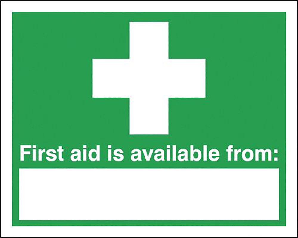 First Aid Is Available From 210x148mm 1.2mm Rigid Plastic Safety Sign