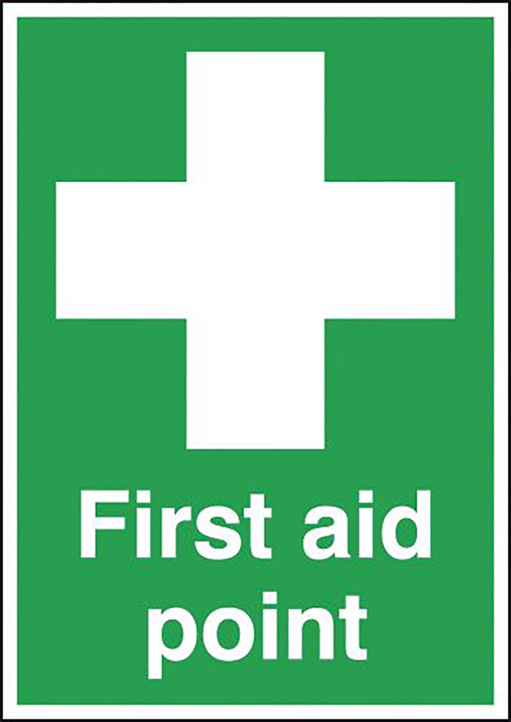 First Aid Point 210x148mm 1.2mm Rigid Plastic Safety Sign