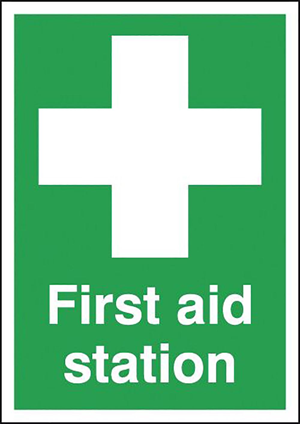 First Aid Station 297x210mm 1.2mm Rigid Plastic Safety Sign