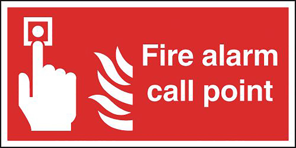 Fire Alarm Call Point  210x148mm Self Adhesive Vinyl Safety Sign
