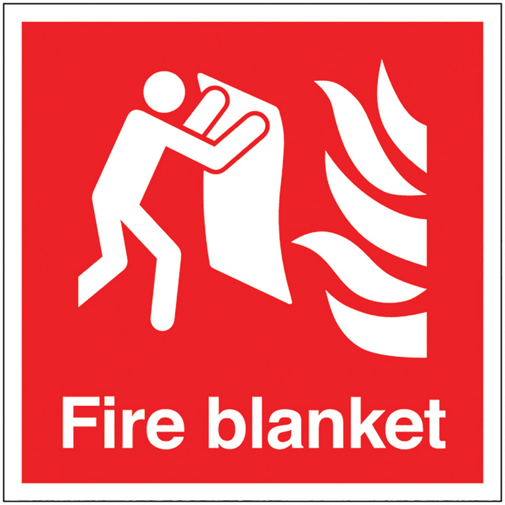 Fire Blanket  200x200mm 1.2mm Rigid Plastic Safety Sign