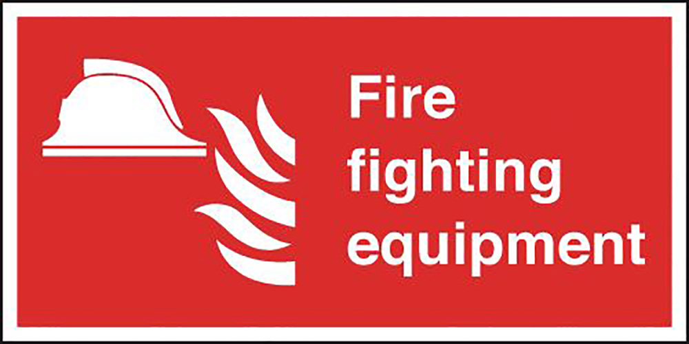 FireFighting Equipment  200x400mm 1.2mm Rigid Plastic Safety Sign