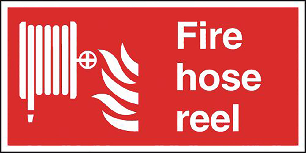 Fire Hose Reel  200x400mm Self Adhesive Vinyl Safety Sign