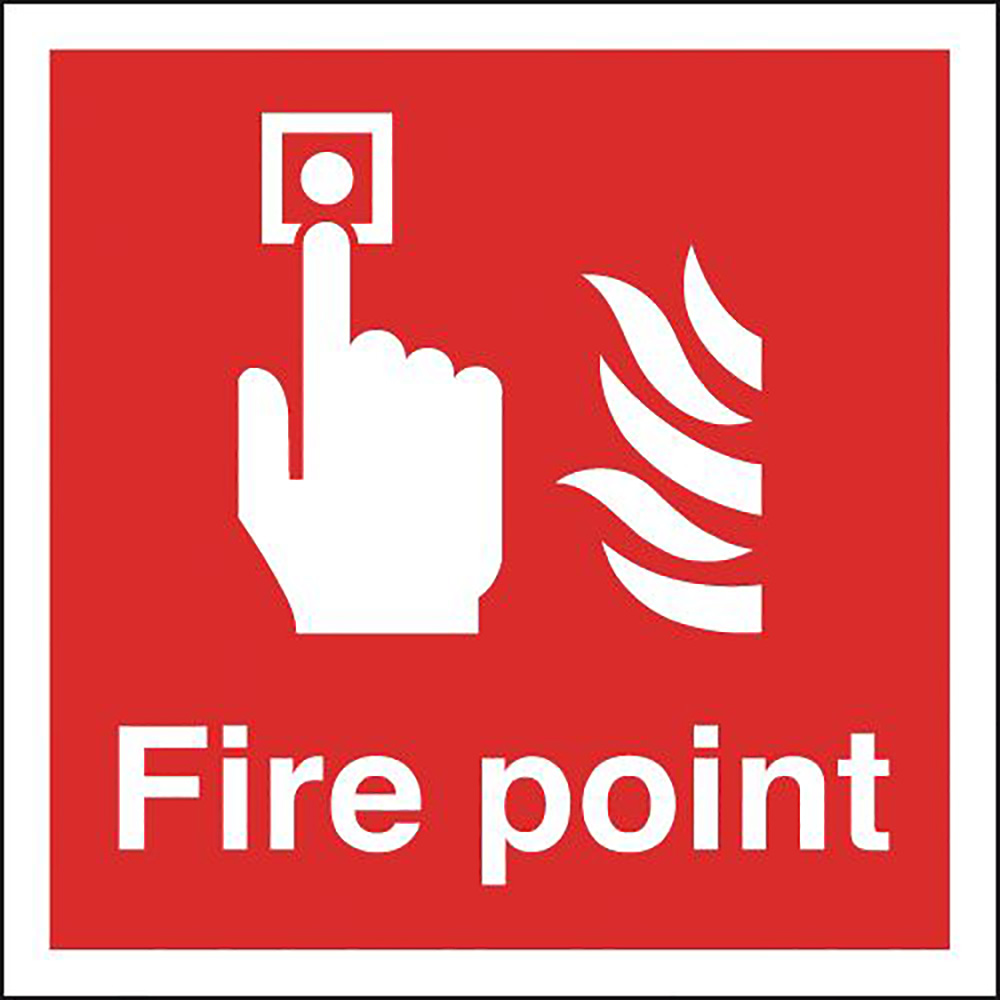 Fire Point  200x200mm 1.2mm Rigid Plastic Safety Sign