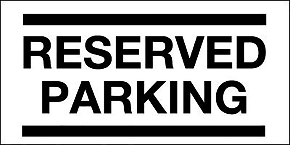 150x330mm Reserved Parking - Rigid