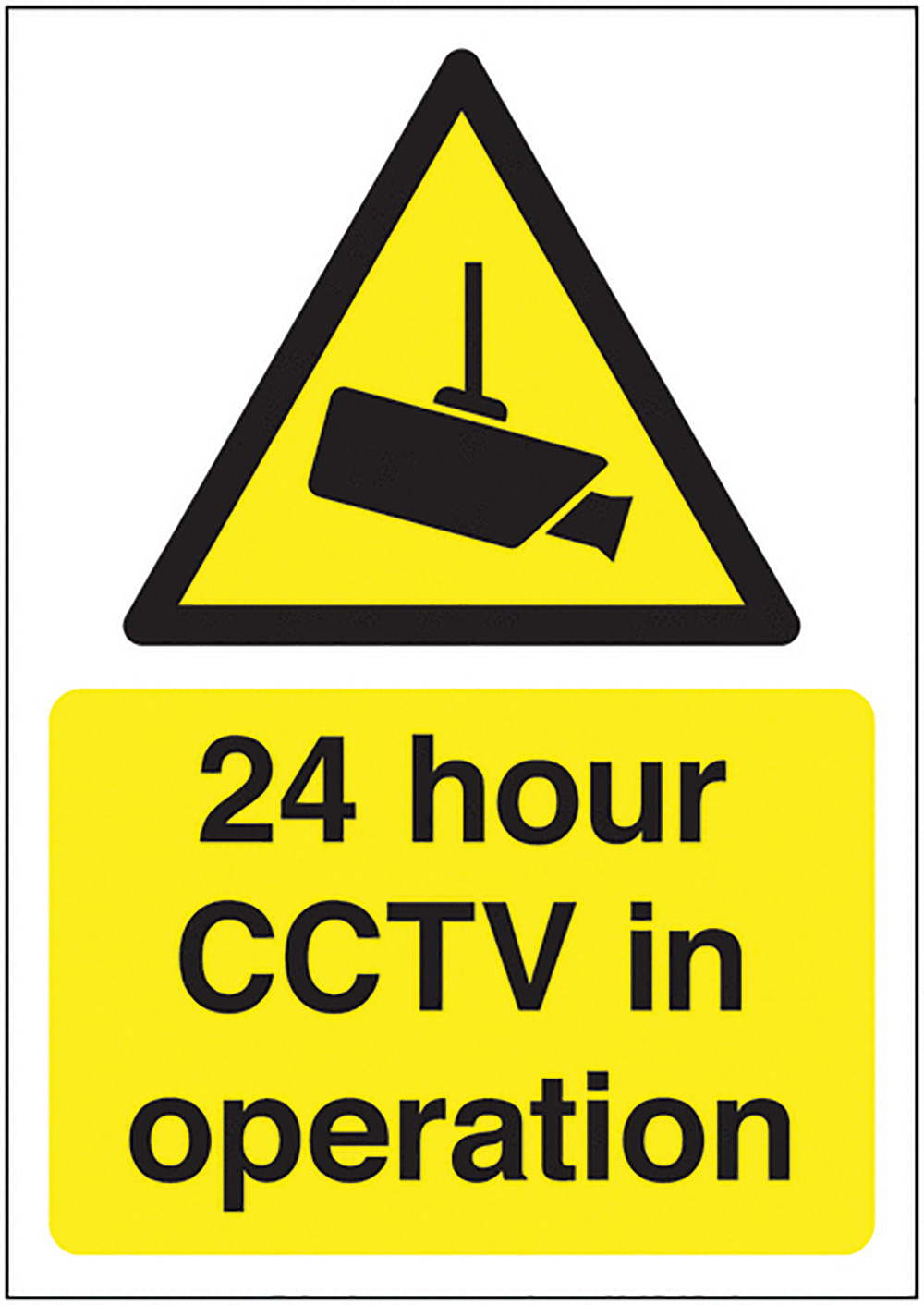 24 Hour CCTV in Operation 420x297mm 1.2mm Rigid Plastic Safety Sign