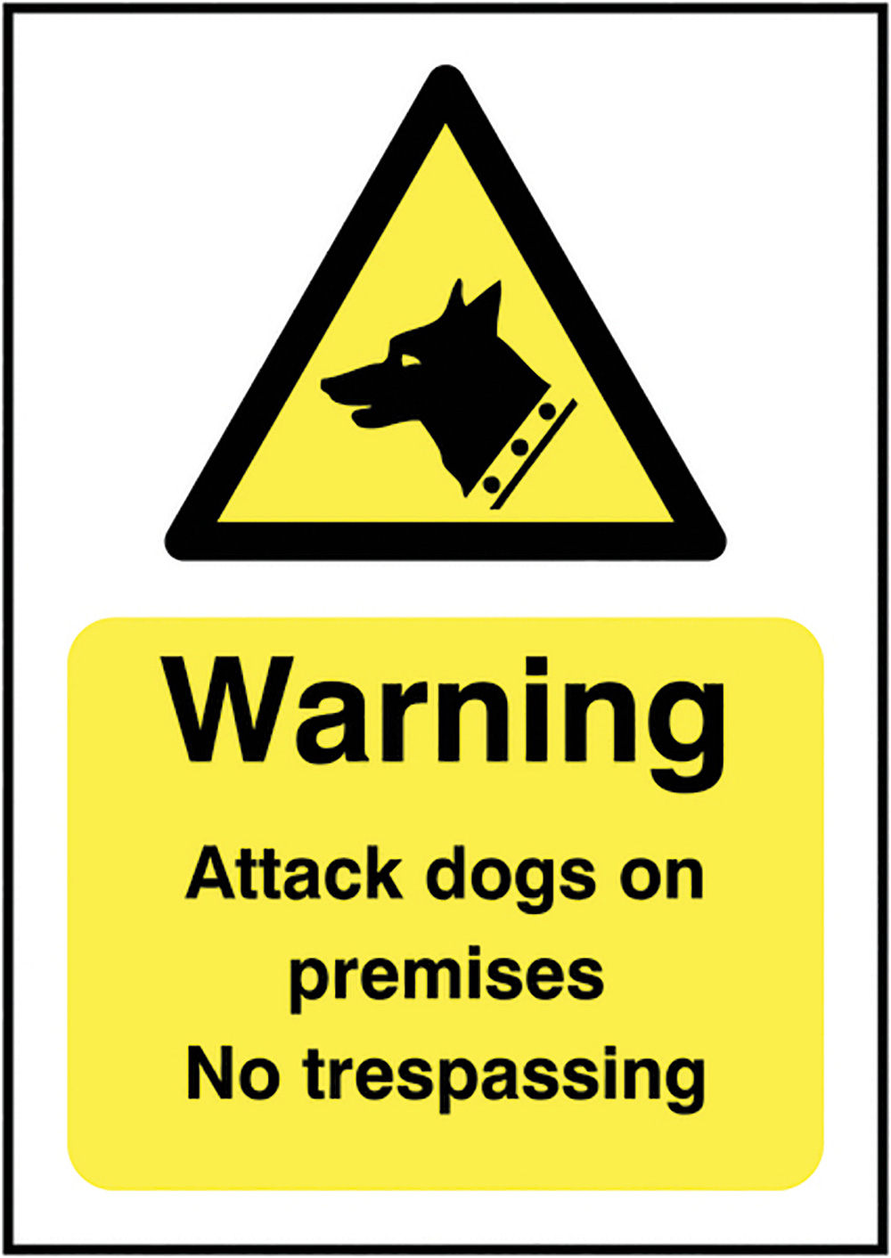 Caution Guard Dogs on Patrol  420x297mm Self Adhesive Vinyl Safety Sign