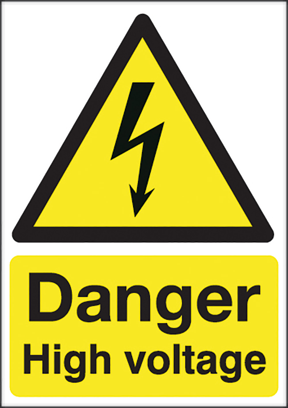 Danger High Voltage  420x297mm Self Adhesive Vinyl Safety Sign