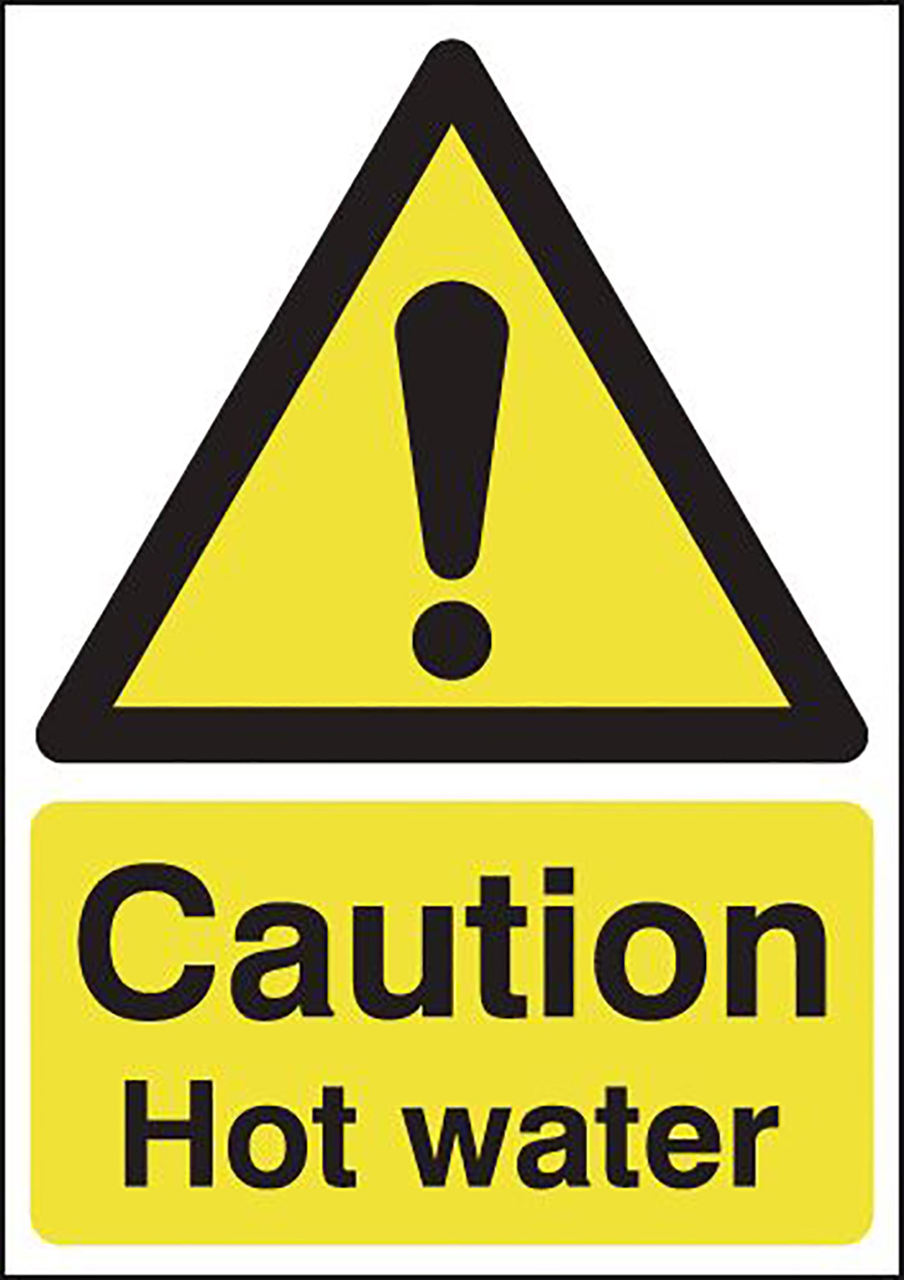 Caution Hot Surface 210x148mm Self Adhesive Vinyl Safety Sign