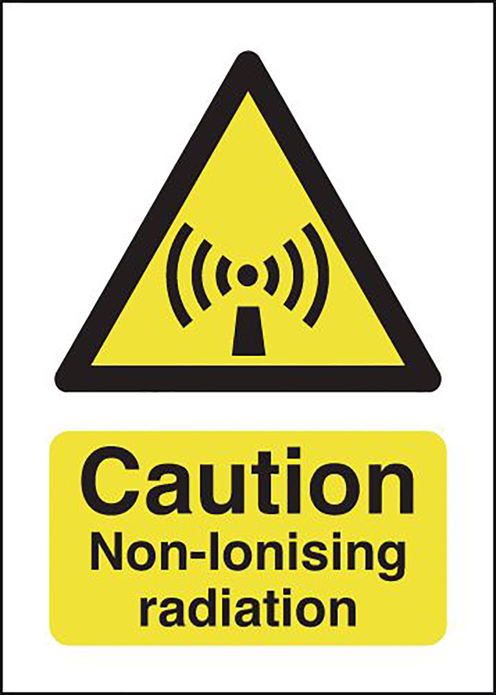 Caution Non-ionising Radiation 210x148mm 1.2mm Rigid Plastic Safety Sign