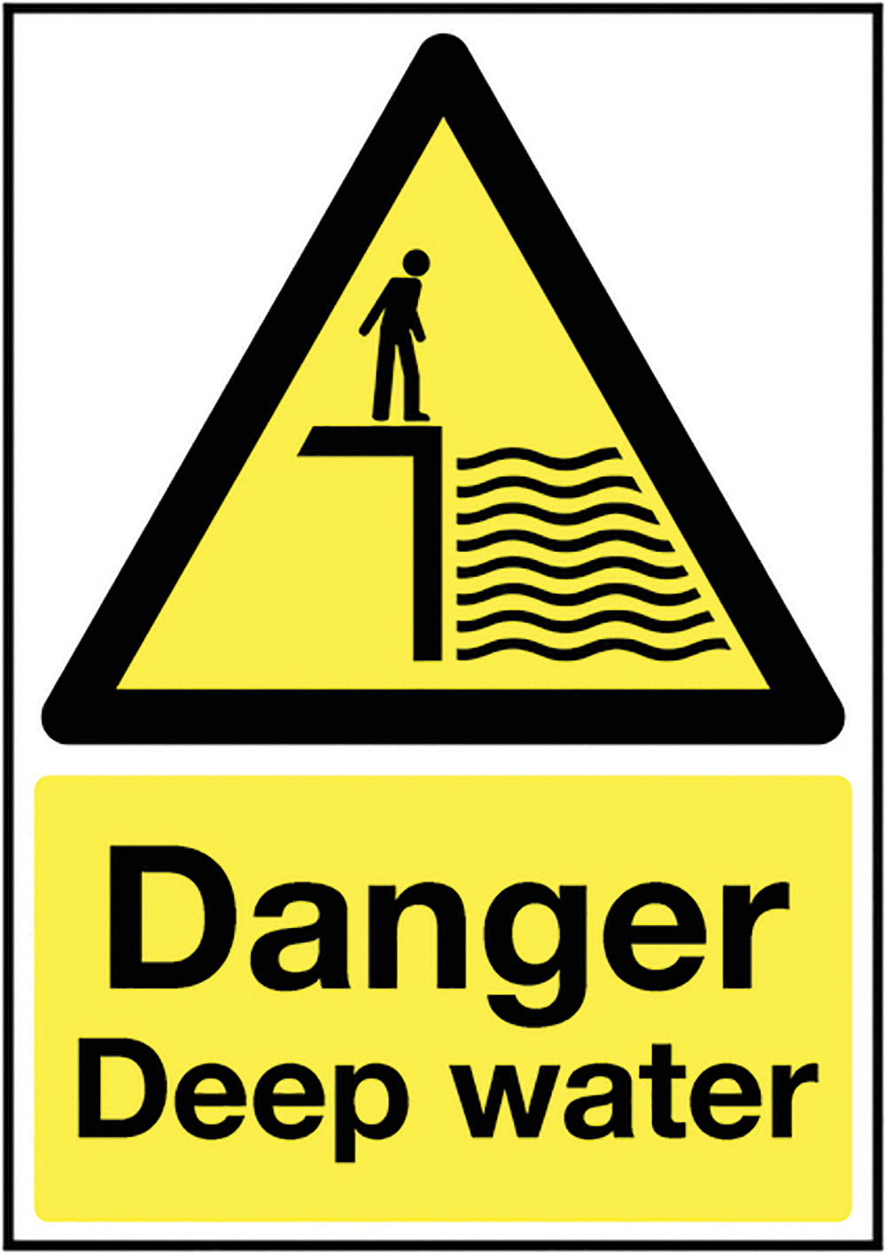 Danger Deep Water 297x210mm 1.2mm Rigid Plastic Safety Sign