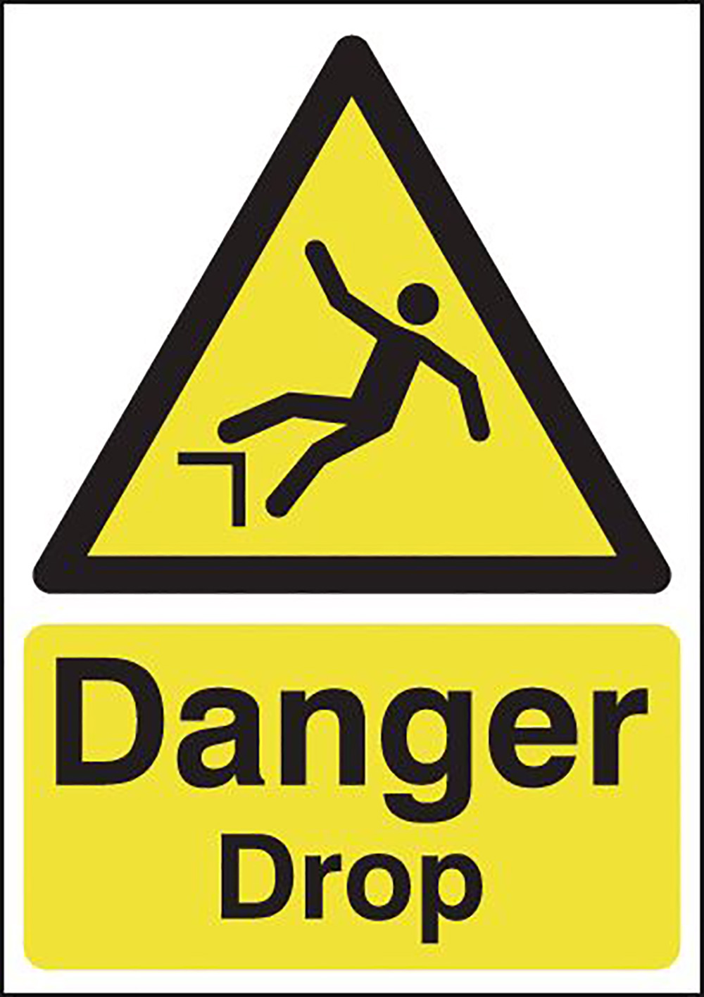 Danger Drop 420x297mm 1.2mm Rigid Plastic Safety Sign