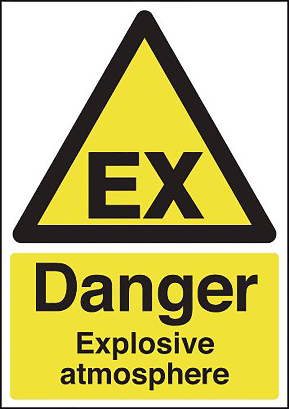 Danger Explosive Atmosphere 420x297mm 1.2mm Rigid Plastic Safety Sign