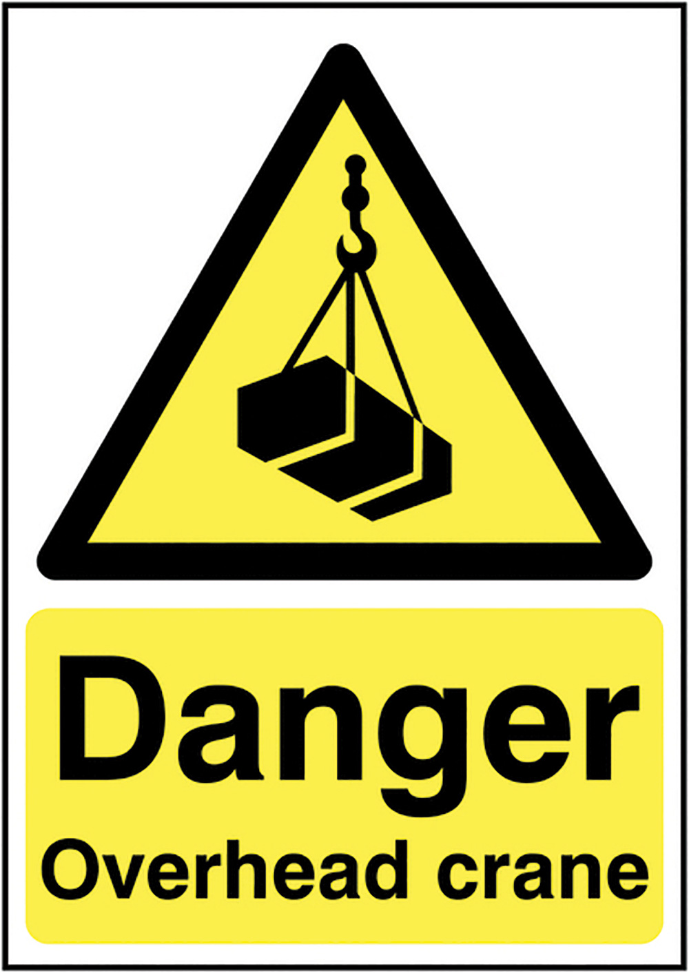 Danger Overhead Crane  420x297mm Self Adhesive Vinyl Safety Sign