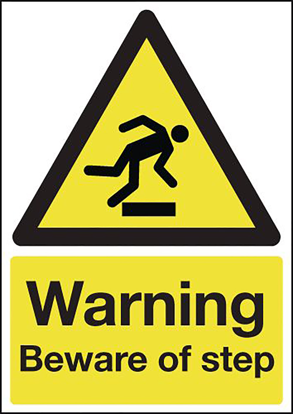 Warning Beware of Step 210x148mm Self Adhesive Vinyl Safety Sign