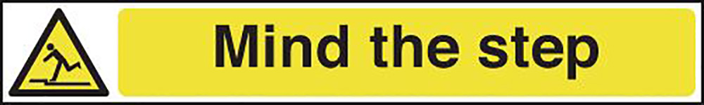 Mind the Step 60x400mm 1.2mm Rigid Plastic Safety Sign