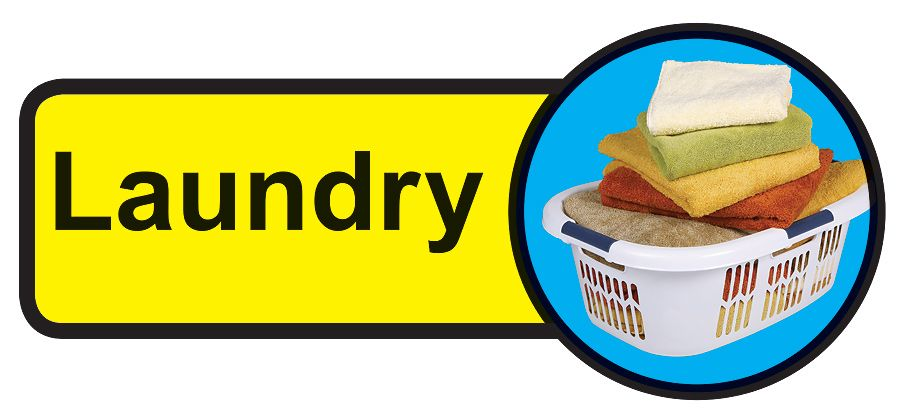 Laundry Dementia Sign  210x480mm 1.2mm Rigid Plastic Safety Sign