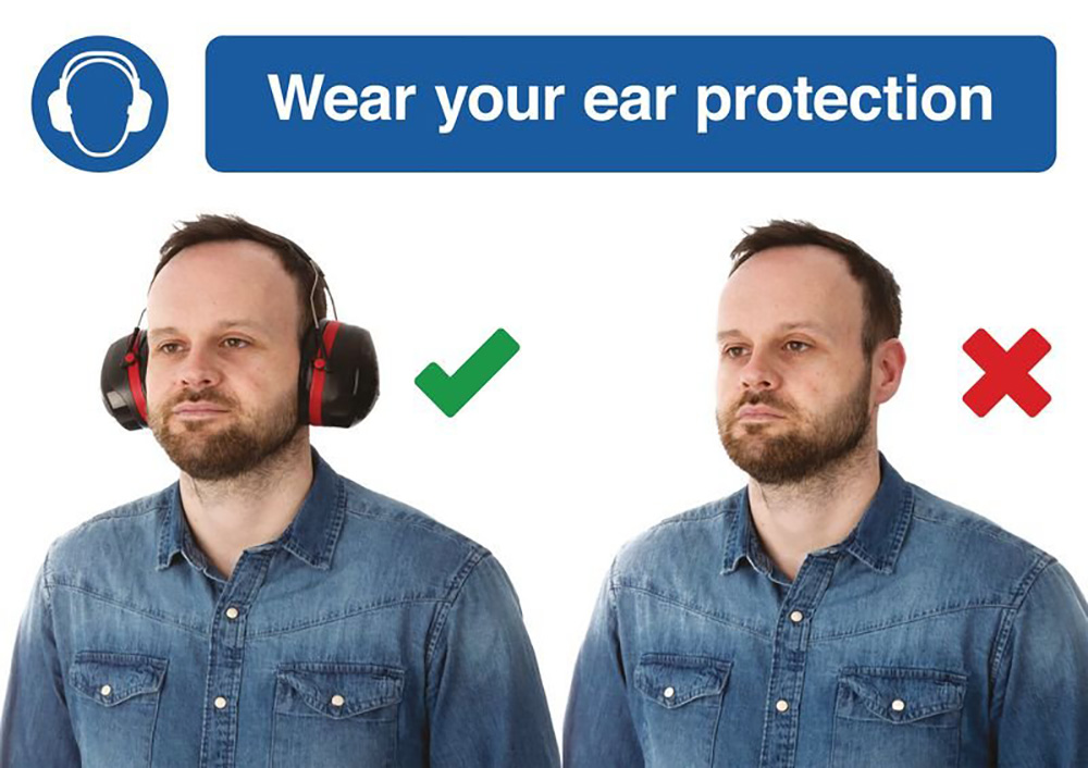210 x 297mm Wear your ear protection - Rigid