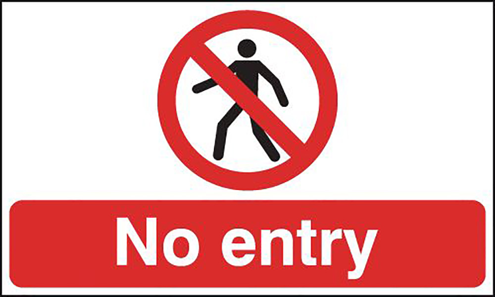 450x600mm No entry stanchion sign
