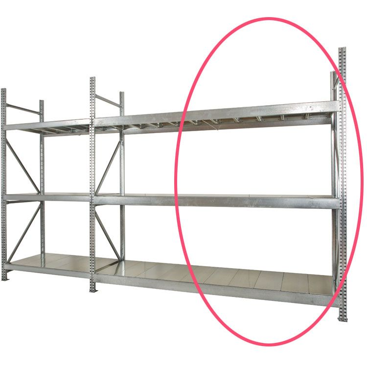 Galvanised Shelving Extension Bay     1950 High mm x 800mm Deep