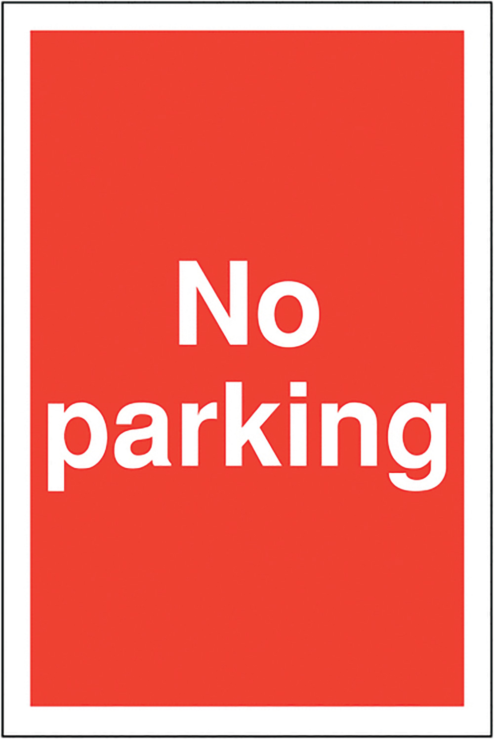 No parking 400x300mm 2mm Polycarbonate Safety Sign