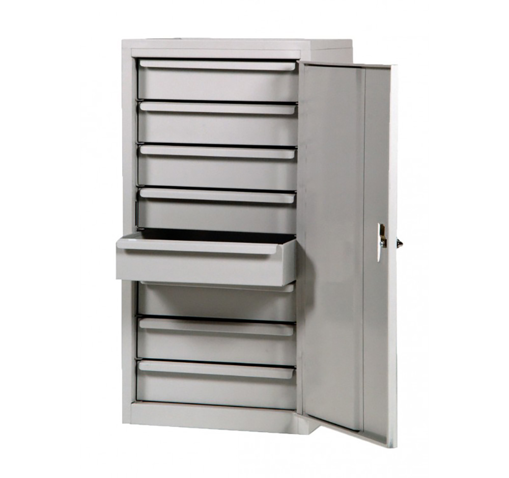 Single Door Steel Tool Cabinet with Eight Drawers