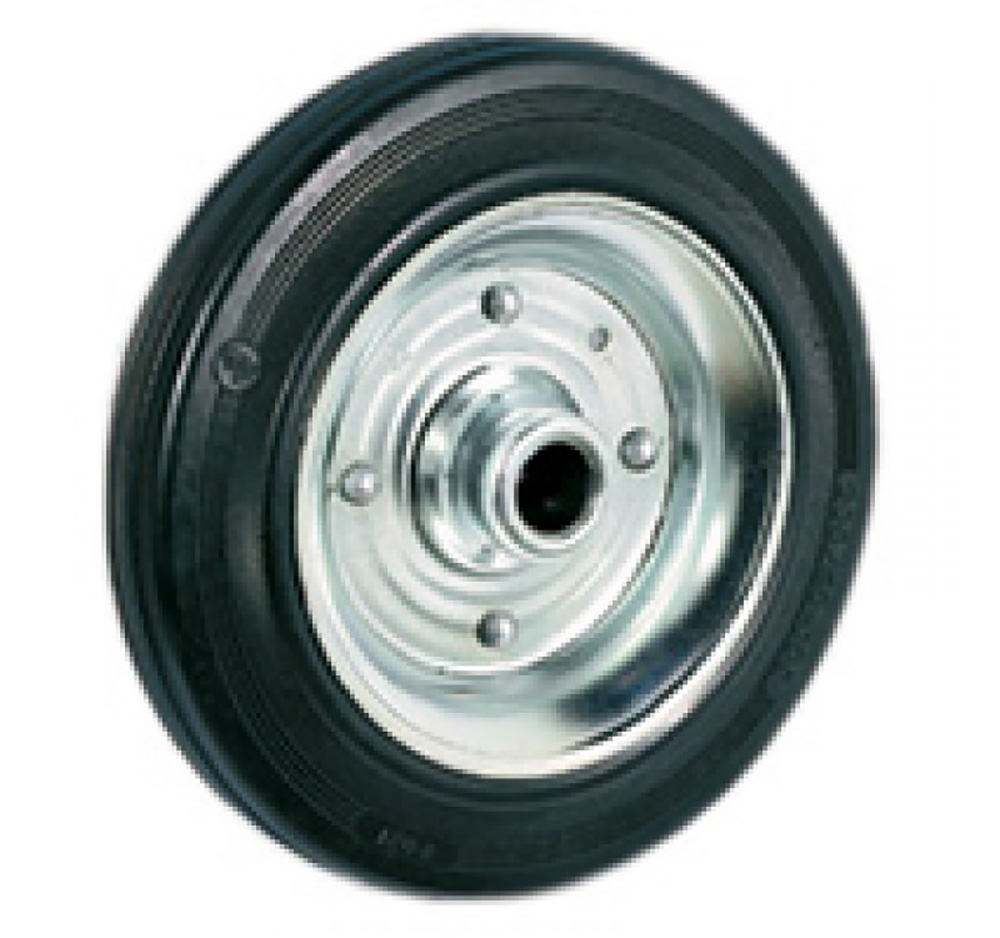 200mm Rubber Tyred Wheel with Roller Bearing