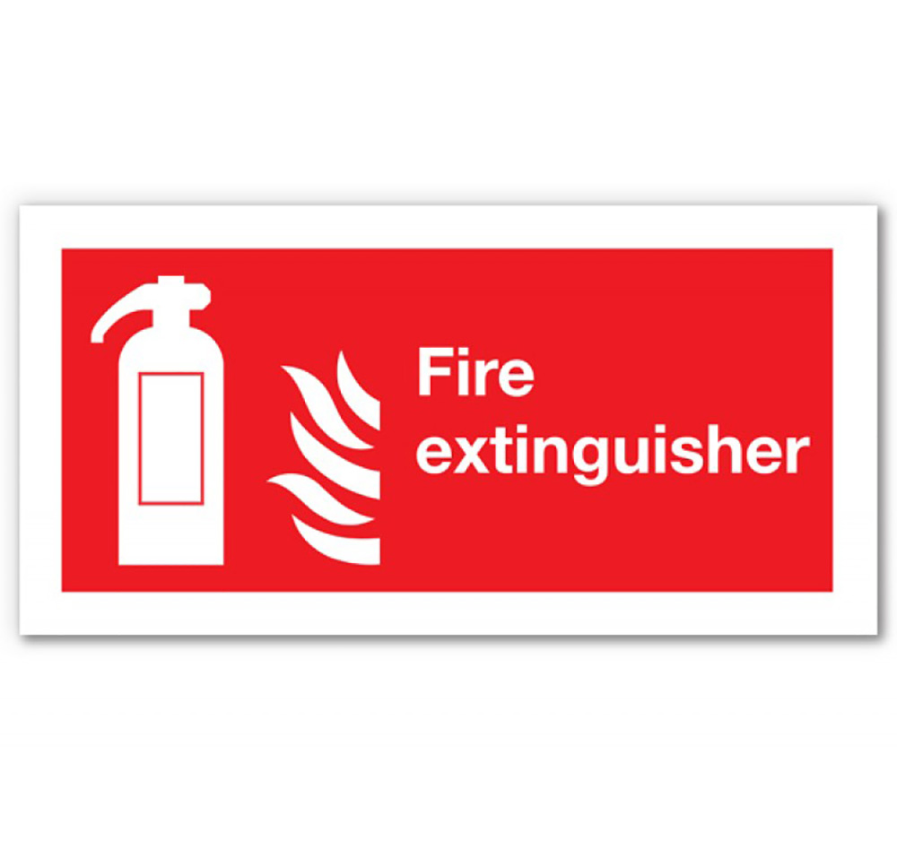 200mm x 400mm Fire Extinguisher Sign  Self Adhesive or Rigid Plastic