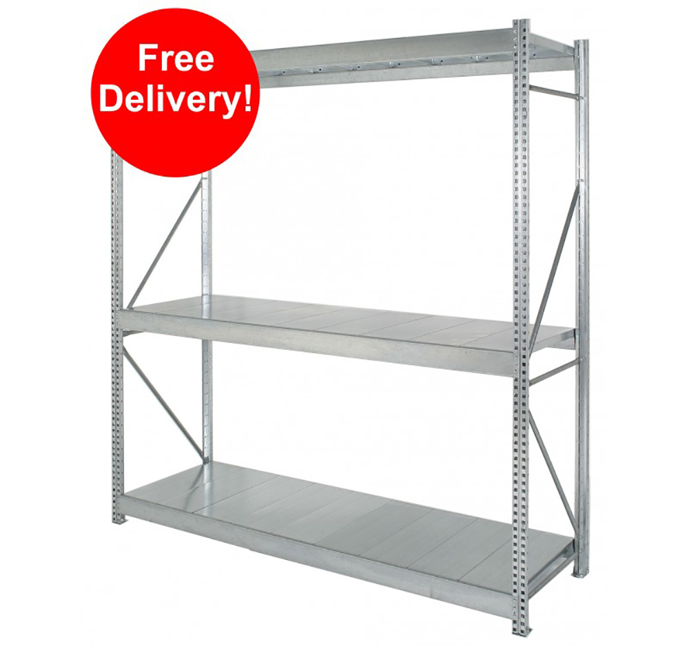 3000mm x 1200mm Galvanised Shelving Starter Bay