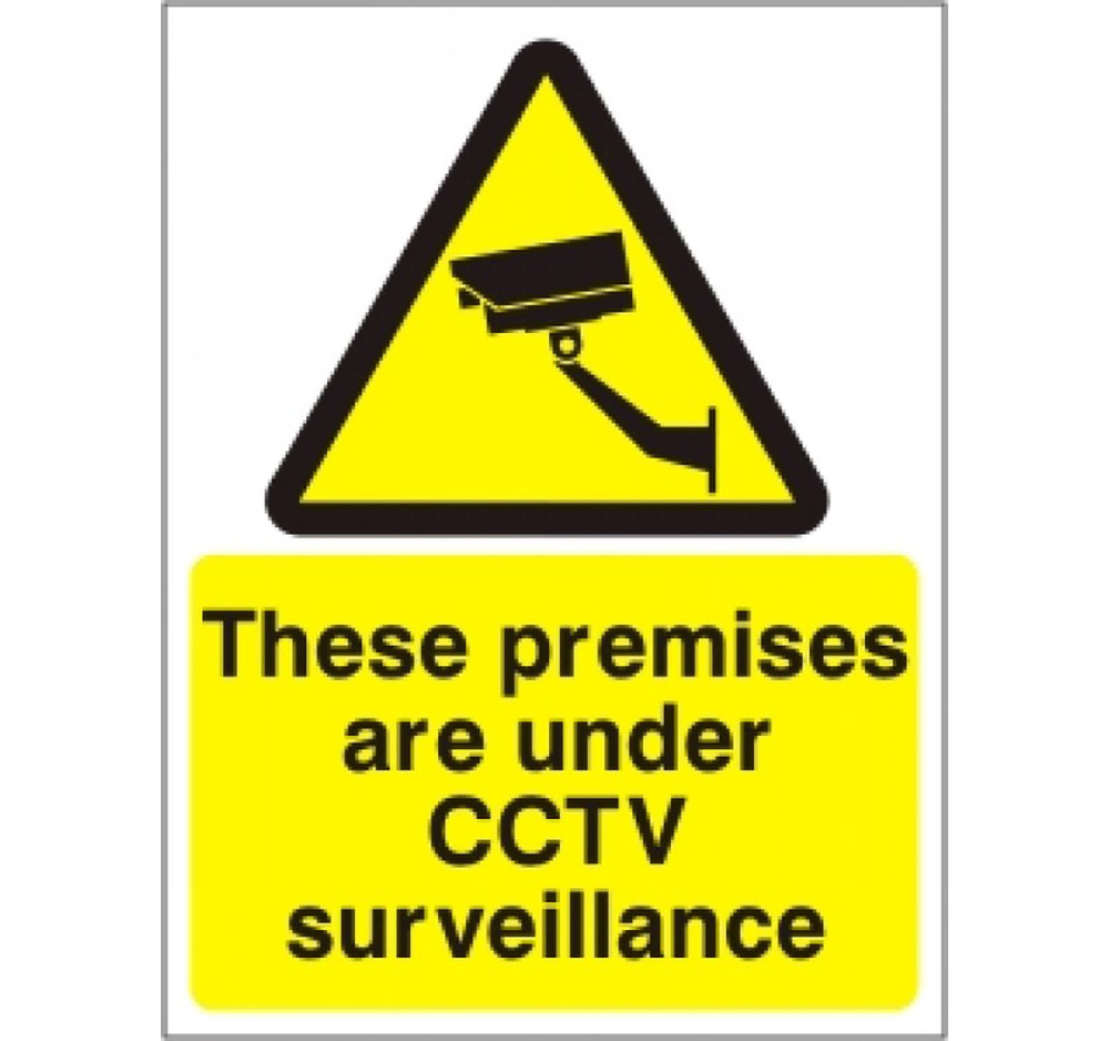 Large Premises under CCTV surveillance 400 x 300 Sign