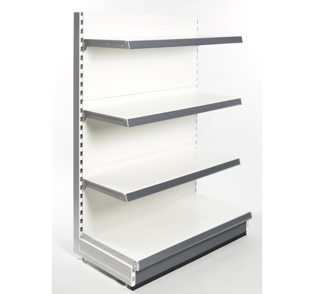 1.4m High  Hotspot  Single Sided Retail Shelving Gondola bay with Shelves