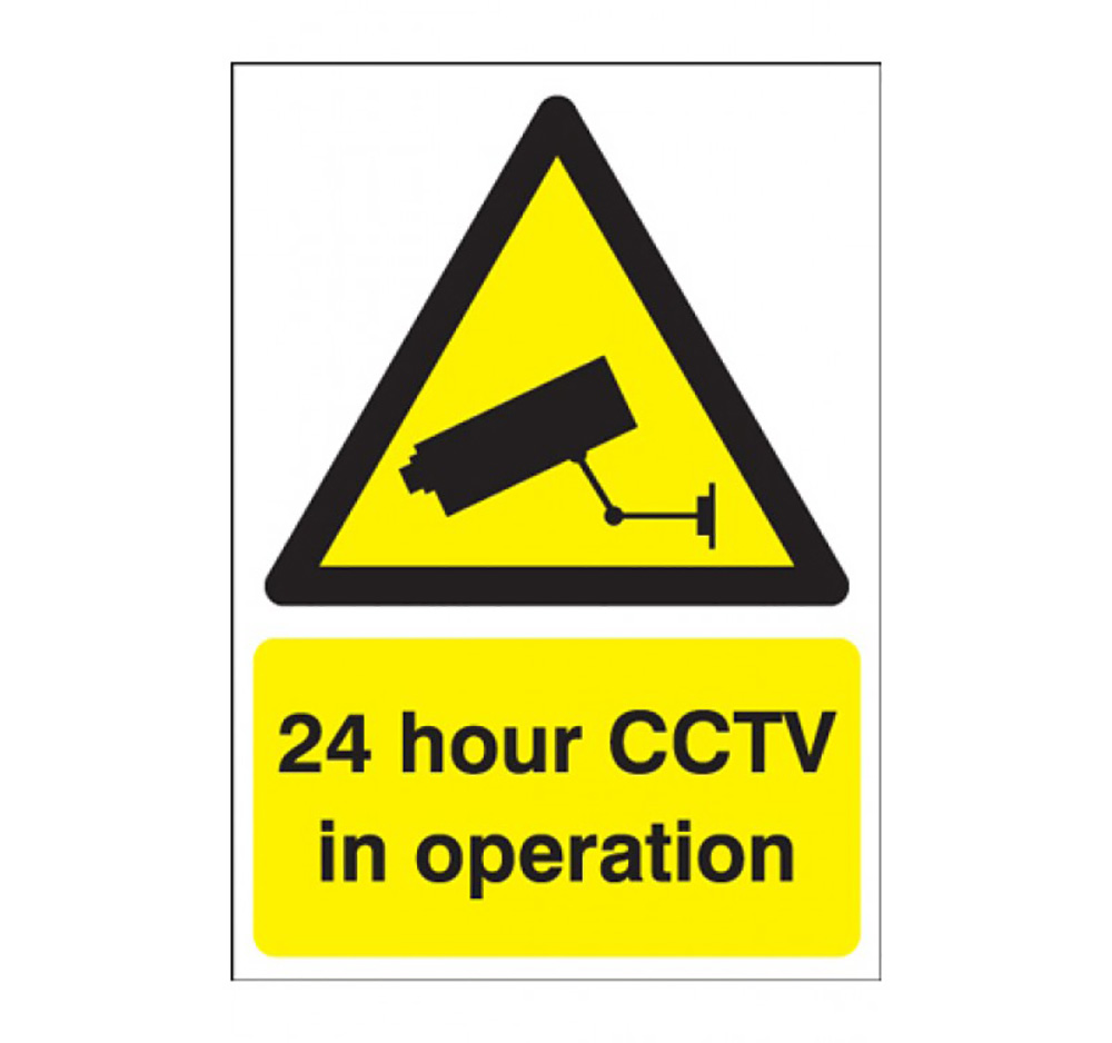 A3 24 hour CCTV in Operation Sign  Rigid Plastic