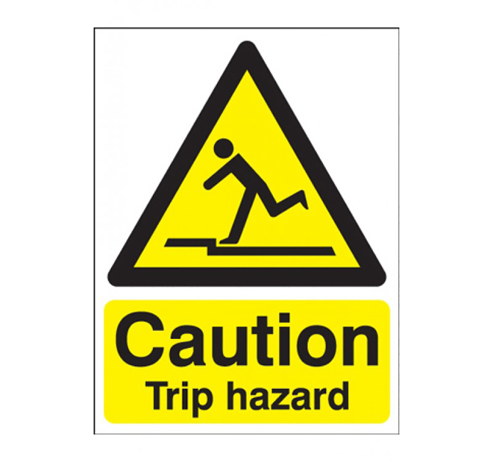 400mm x 300mm Caution Trip Hazard Sign  Rigid Plastic