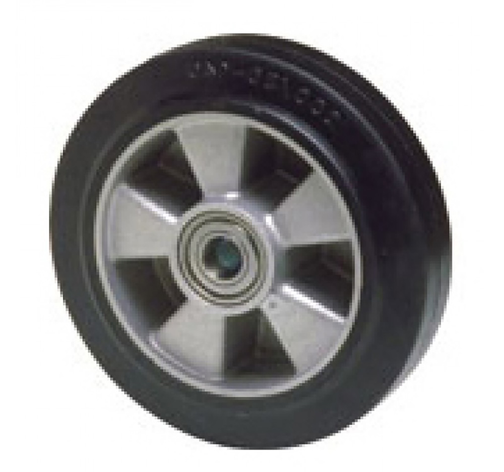 160mm Rubber Tyred Wheel with Ball bearing
