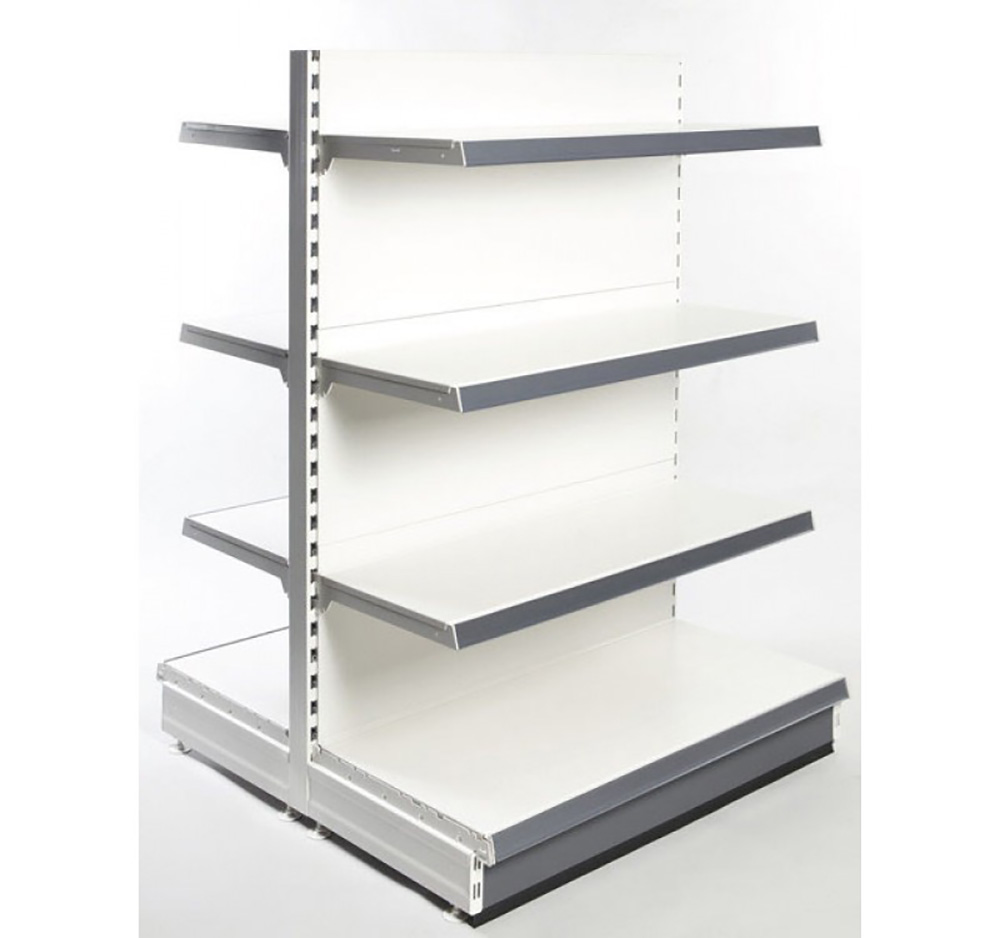 1.4m High Retail Shelving Gondola bay with Shelves