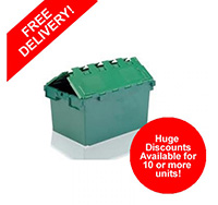 25 Litre 320mm x 400mm x 300mm Stackable  Nestable Plastic Container Box - Green