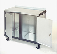 Mobile Tool Trolley with Two Cupboards  840mm x 1000mm x 500mm