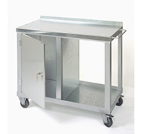 Mobile Tool Trolley with Single Cupboard  840mm x 1000mm x 500mm  Blue