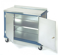 Mobile Tool Trolley with Double Doors 840mm x 1000mm x 500mm