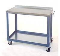Tool Trolleys with 2mm galvanised steel top c/w Bottom Shelf