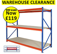 Clearance Longspan Shelving 2000X600X1350mm