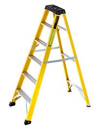 4 Tread Heavy-Duty Fibreglass Swingback Step Ladder
