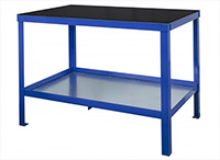 Heavy Duty Workbench with Rubber bonded to Steel Top - 1000kg UDL- 1200mm Wide