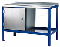 Heavy Duty Workbench with 2mm Galvanised Steel Top - 1000kg UDL - 1200mm Wide