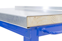 Super Heavy Duty Workbench with Steel over Wood Top 1500kg UDL - 1200mm Wide